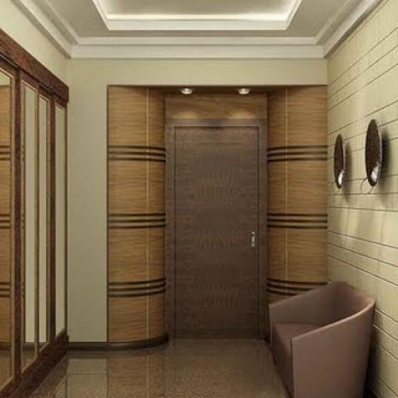 Потолок с подсветкой в коридоре
