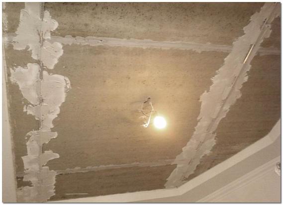 Выравнивание потолка штукатуркой фото