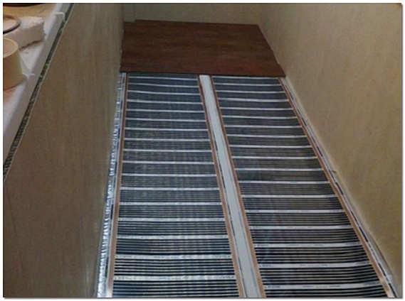 Электрический пленочный теплый пол на балконе