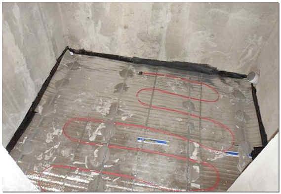 Электрический теплый пол в ванной комнате