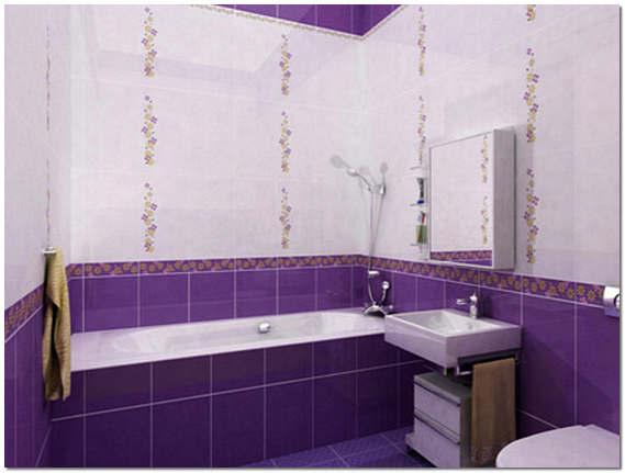 Отделка кафелем стен ванной комнаты