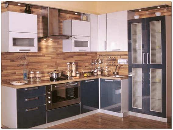 Отделка кухни стеновыми панелями МДФ фото