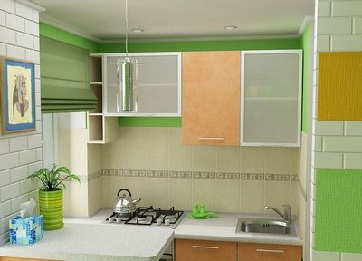 Отделка стен кухни кафельной плиткой в квартире