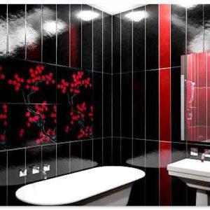Отделка ванных комнат панелями пвх