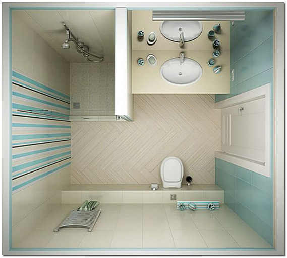 Стандартная ванная комната фото