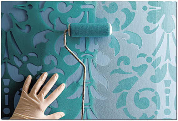 Трафарет для покраски стен своими руками фото
