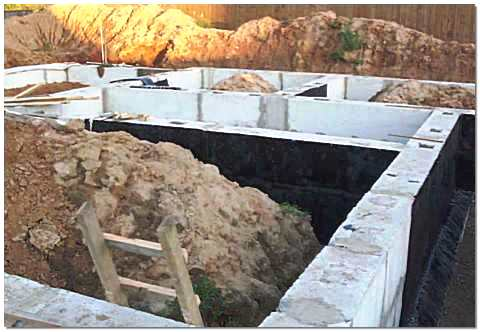 Фундамент из блоков фбс для дома из бруса