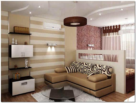 Гостиная и спальня в одной комнате фото