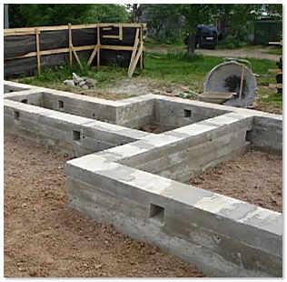 Строим фундамент для дома своими руками
