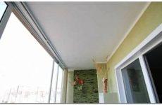 Потолок на балконе: варианты отделки потолков на балконе