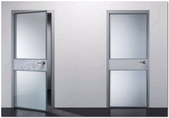 Стеклянные межкомнатные двери из матового стекла
