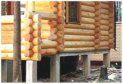 Свайный фундамент под дачный домик