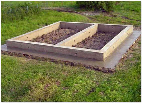 Ленточный фундамент для бани из бруса фото