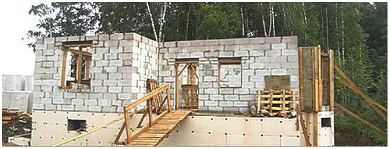 Строительство бани из пеноблоков фото