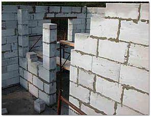 Монтаж стен бани из пеноблоков своими руками
