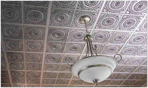 Клеевой потолок из полистирольной плитки