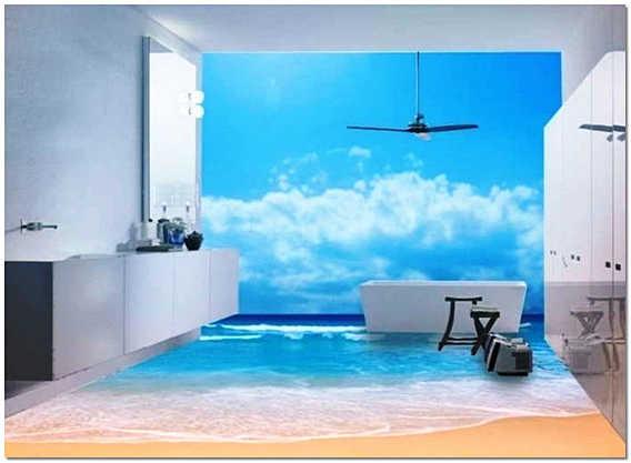 Ложные окна в ванной