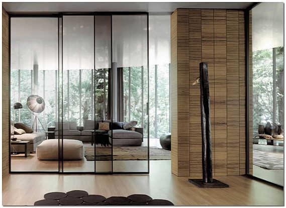 Современные стеклянные перегородки в квартире фото