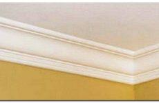Плинтус потолочный: как правильно клеить галтели потолочные своими руками