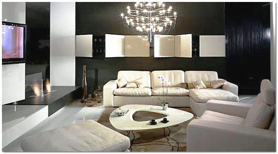 Оформление современной гостиной комнаты