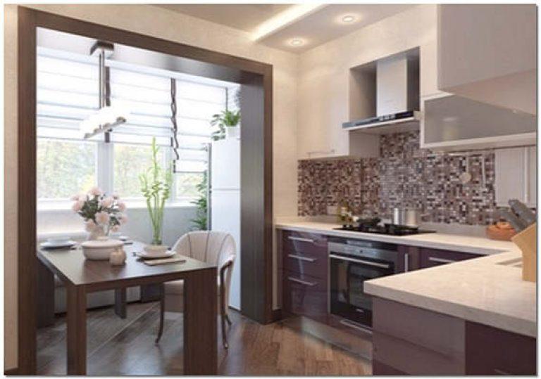 Присоединение балкона и лоджии к кухне: нюансы перепланировк.