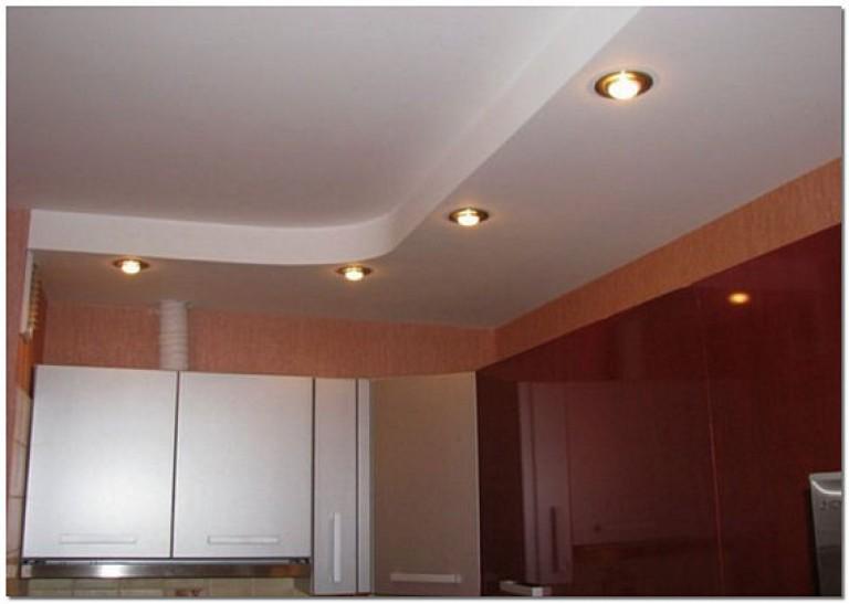 Двухуровневые потолки для кухни из гипсокартона своими руками 892