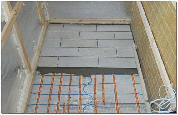 Монтаж электрического теплого пола на балконе