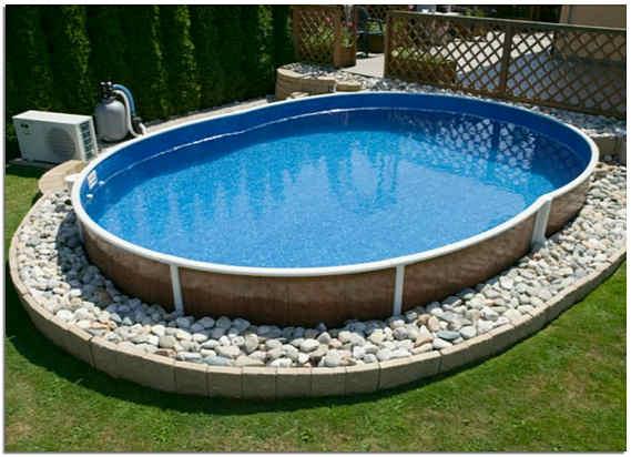Каркасный бассейн на участке фото