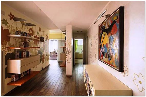 Покрашенные деревянные полы в квартире