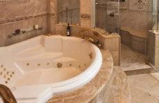 Природный камень – изящный и стильный материал в интерьере ванной комнаты