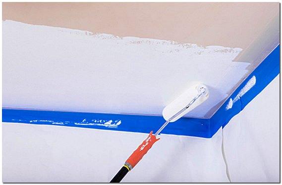 Покраска потолков водоэмульсионной краской своими руками