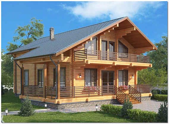 Жилой дом из клееного бруса фото