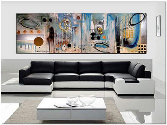 Картины из нескольких частей на стене