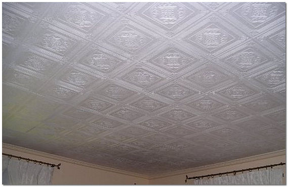 Потолок плитка своими руками фото