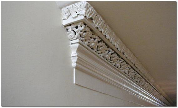 Молдинг для обрамления стыка между потолком и стеной