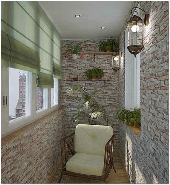 Дизайн декоративного камня на балконе