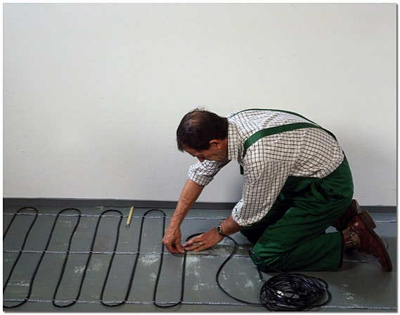 Крепление кабельного электрического теплого пола на монтажную ленту