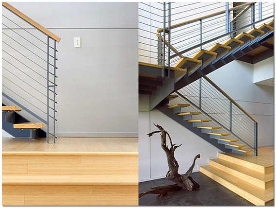 Двухмаршевая лестница на второй этаж