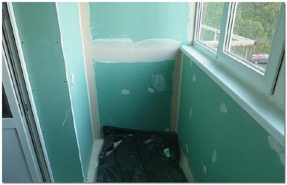 Как сделать внутреннюю отделку балкона гипсокартоном