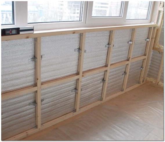 Каркас для крепления ГКЛ на балконе фото