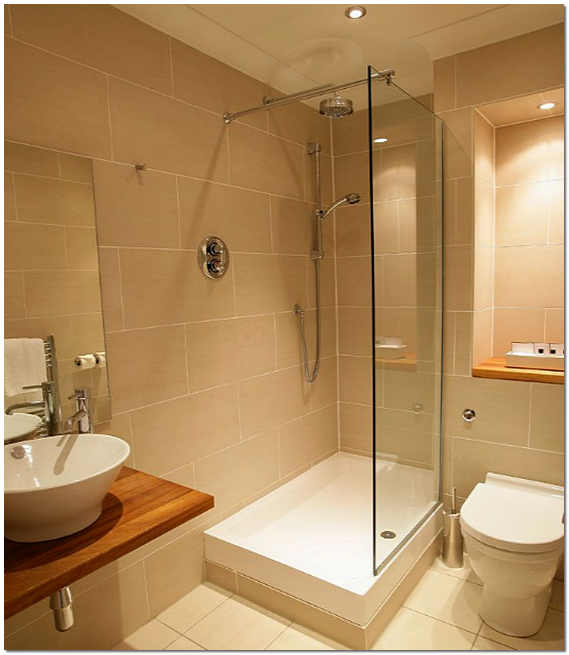 Ванная комната с душевой фото