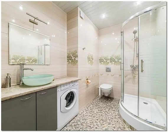 Ремонт совмещенной ванной комнаты и туалета фото
