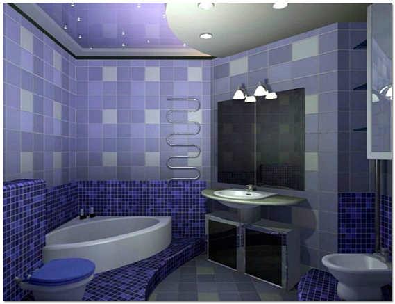 Красивый интерьер ванной комнаты и туалета