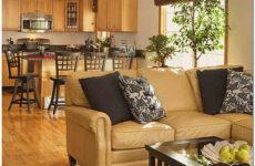 Варианты дизайна гостиных совмещенных с кухней