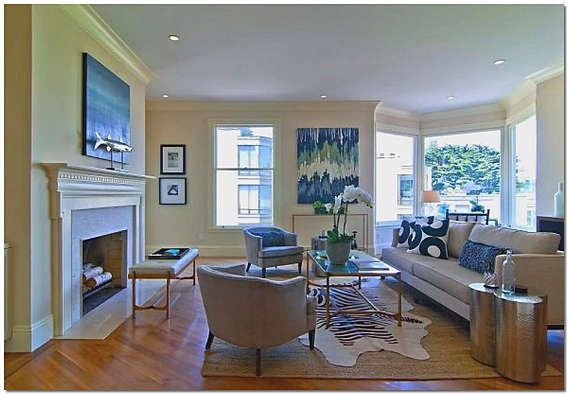 Дизайн обоев гостиной фото
