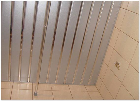 Алюминиевый реечный потолок фото