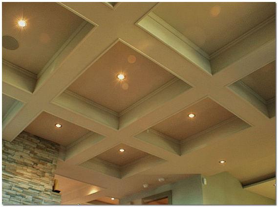 Кессонный потолок из полиуретана