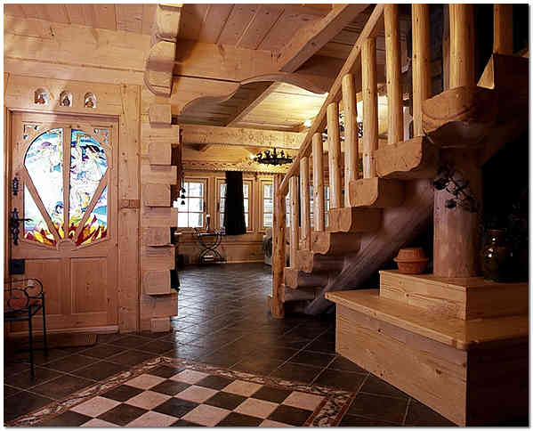 Внутренняя отделка деревянного дома фото