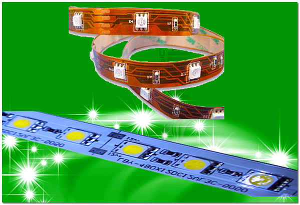 Светодиодная лента для внутренней подсветки натяжного потолка