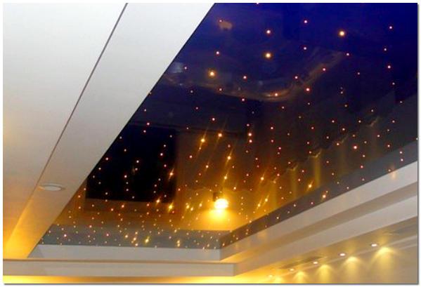 Светодиодная подсветка натяжного потолка изнутри